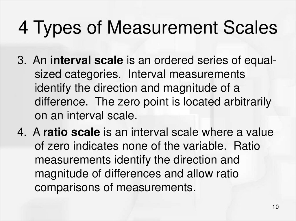 4 Types of Measurement Scales