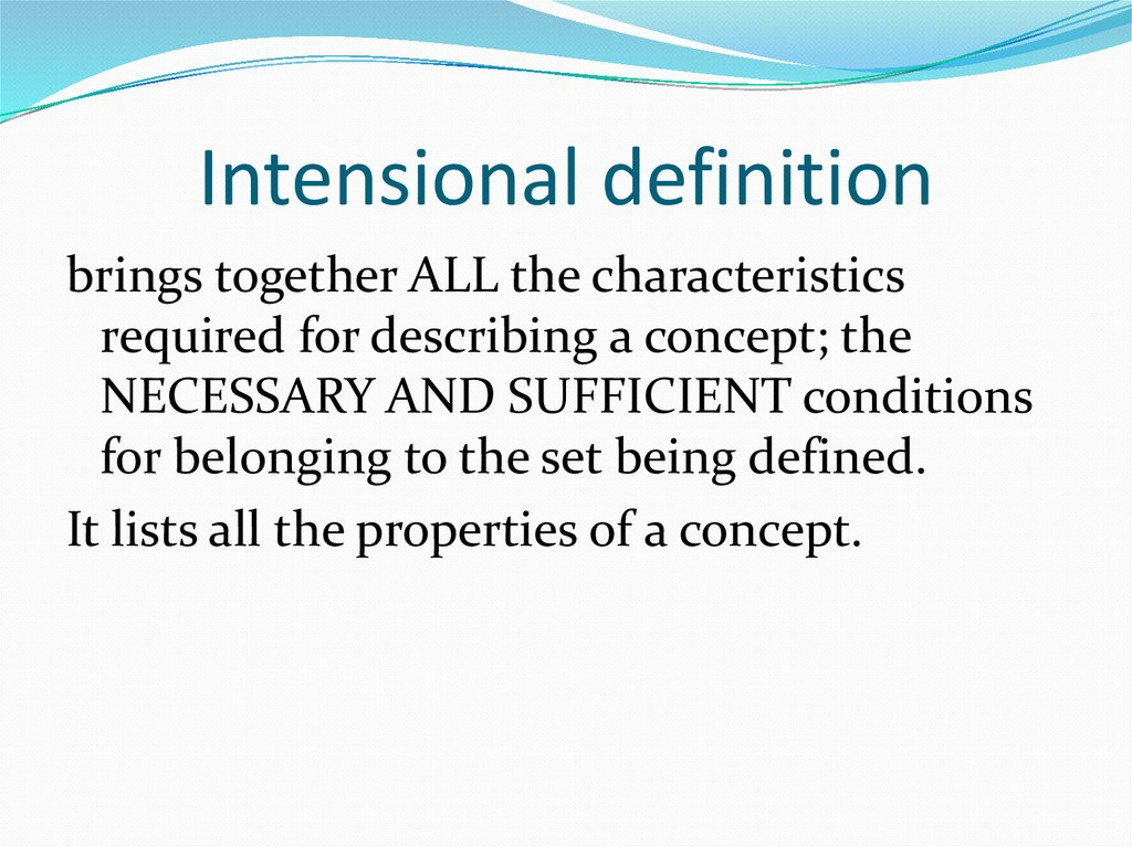 Intensional definition