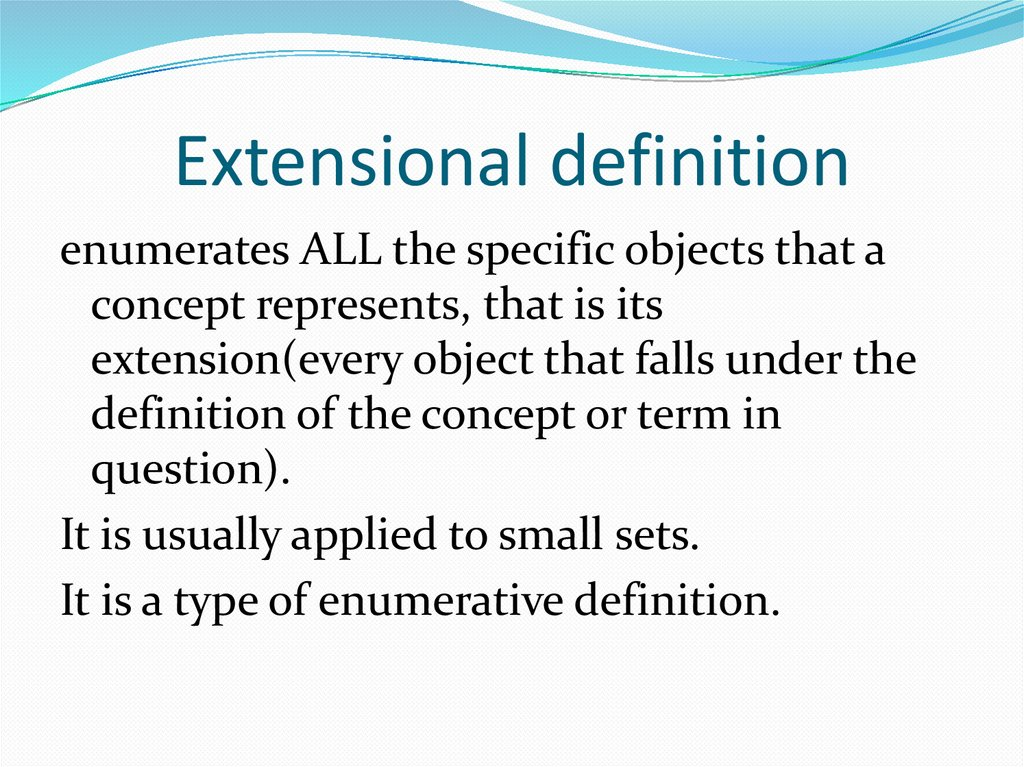 Extensional definition