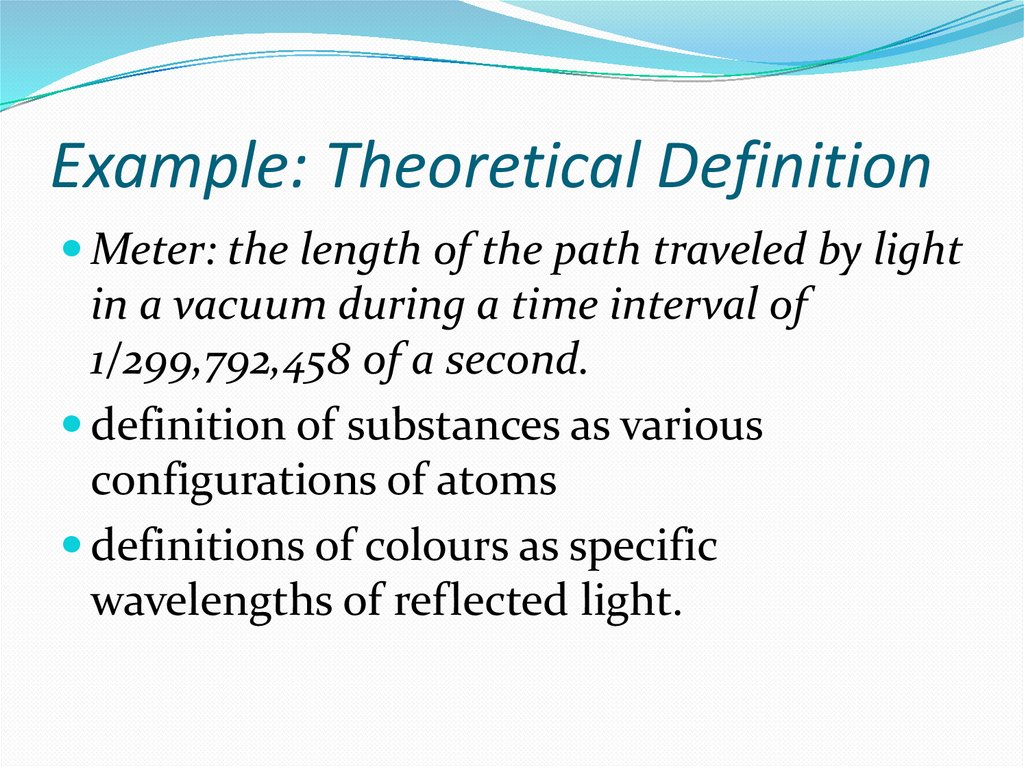 Example: Theoretical Definition