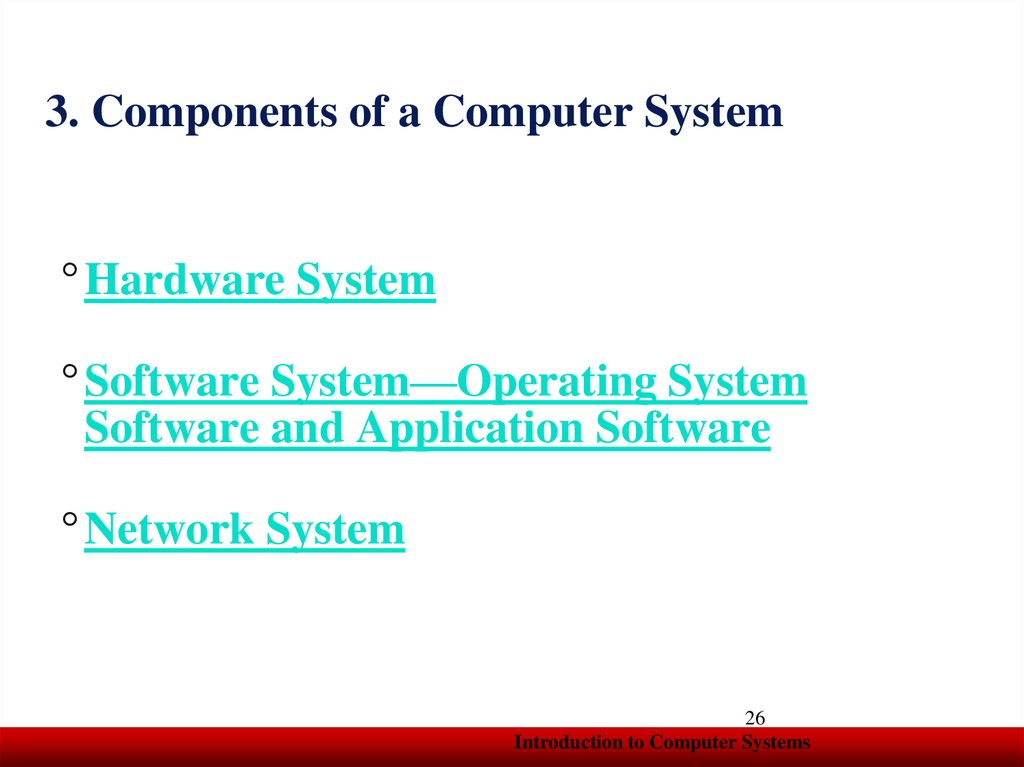 3. Components of a Computer System