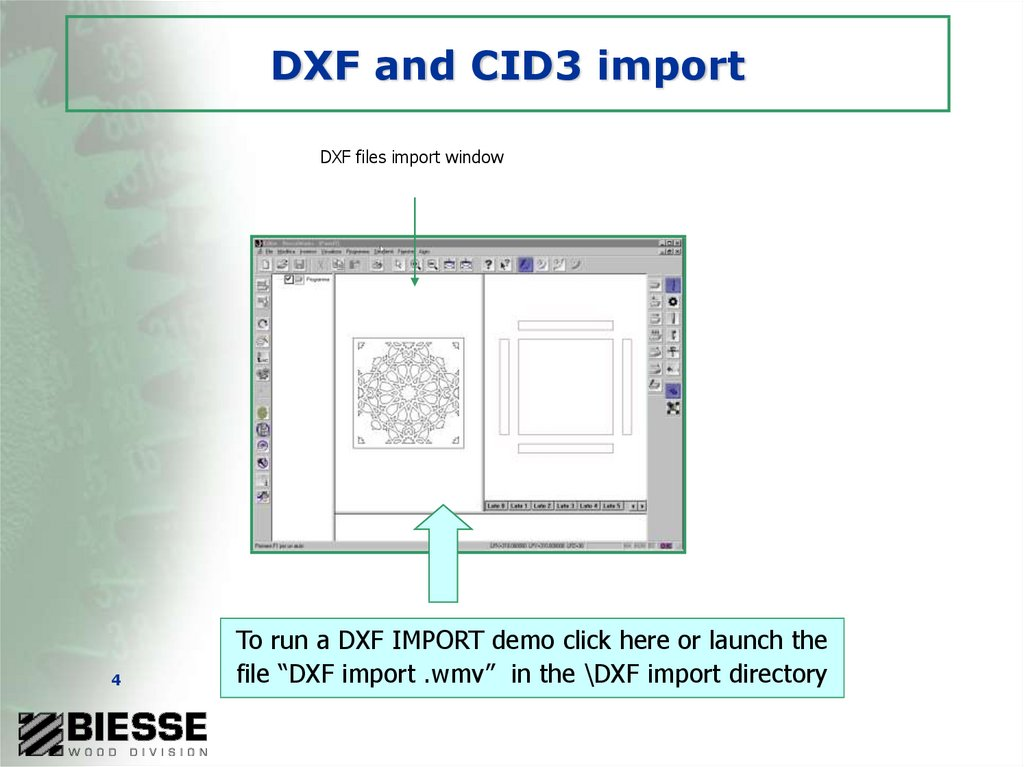 DXF and CID3 import