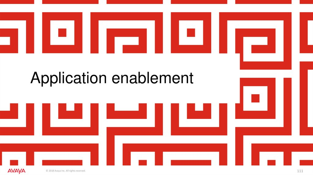 Application enablement