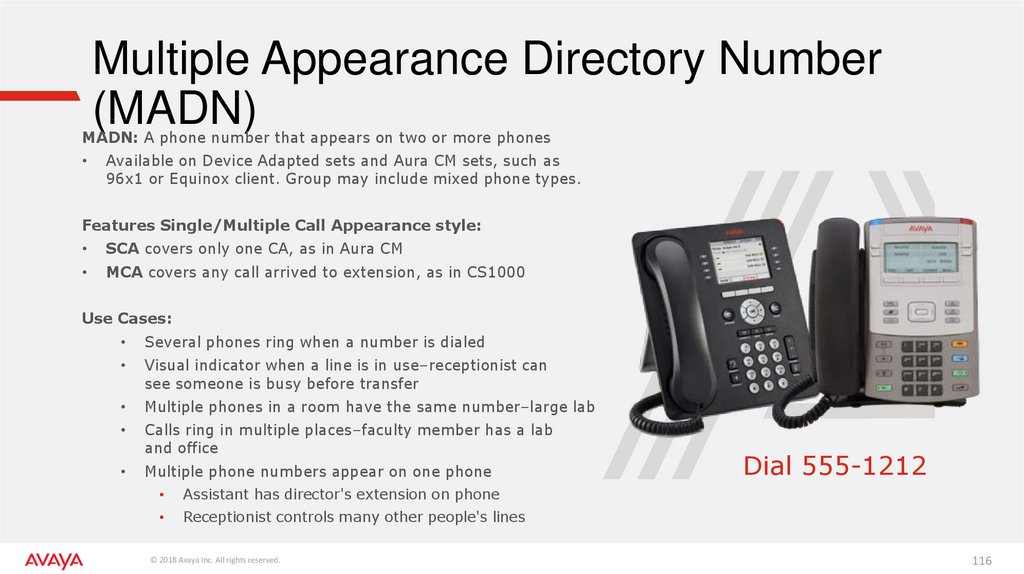 Multiple Appearance Directory Number (MADN)
