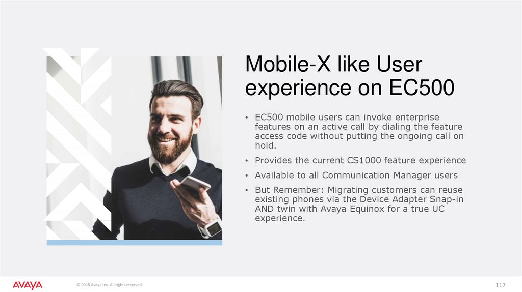 Mobile-X like User experience on EC500