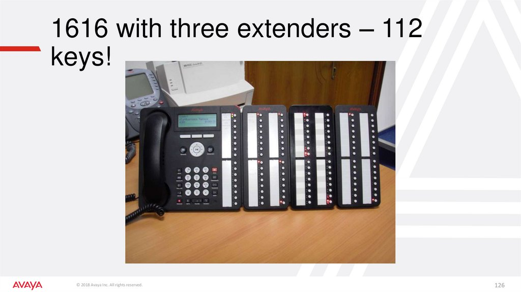 1616 with three extenders – 112 keys!
