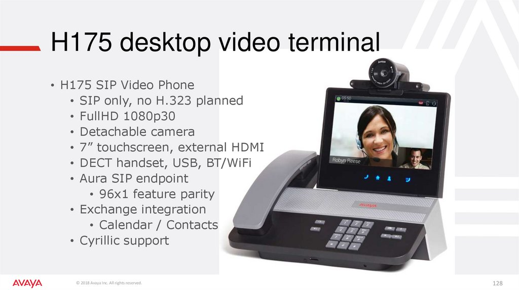 H175 desktop video terminal