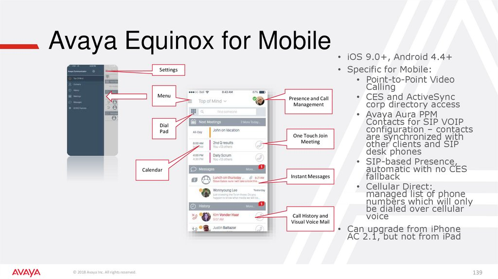 Avaya Equinox for Mobile