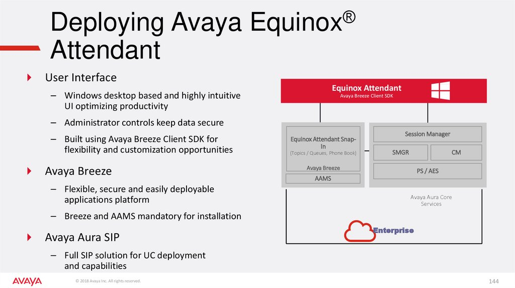 Deploying Avaya Equinox® Attendant