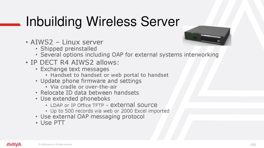 Inbuilding Wireless Server