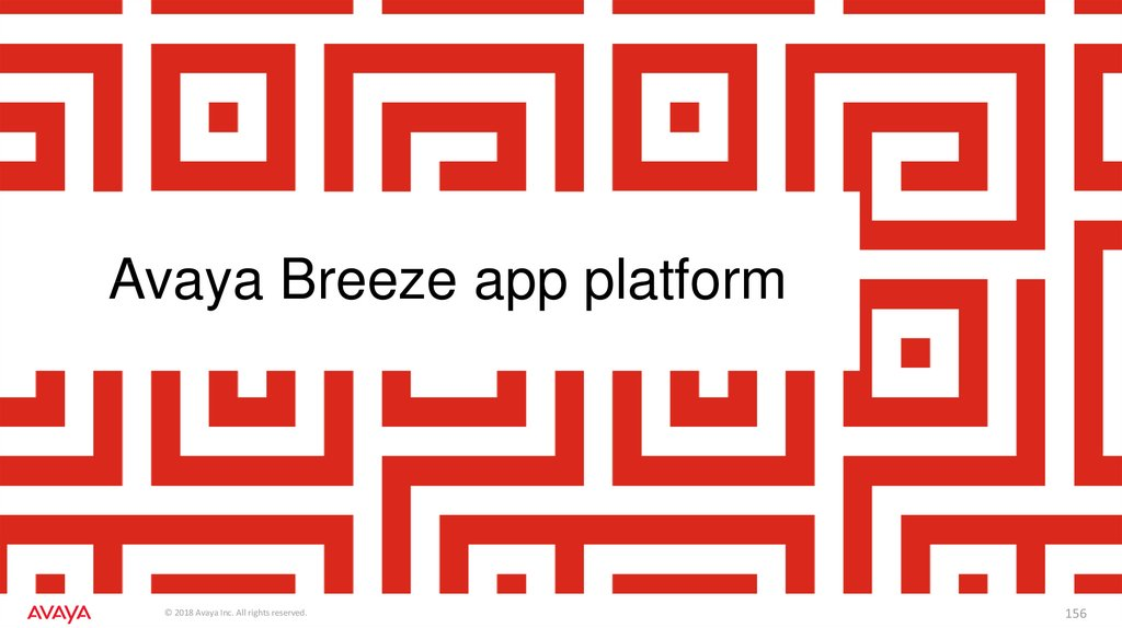 Avaya Breeze app platform