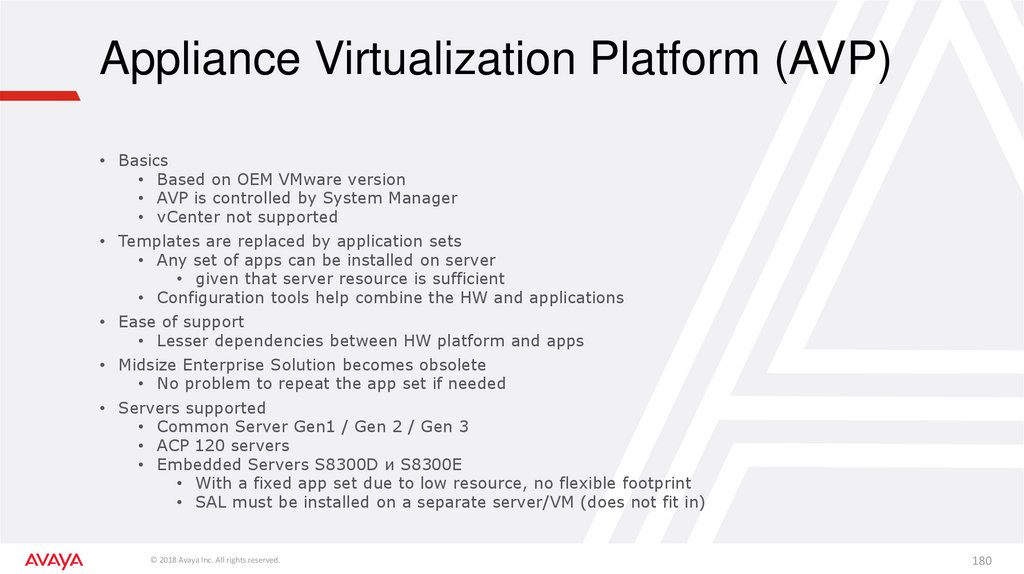 Appliance Virtualization Platform (AVP)