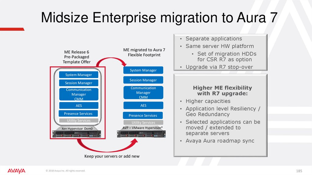 Midsize Enterprise migration to Aura 7