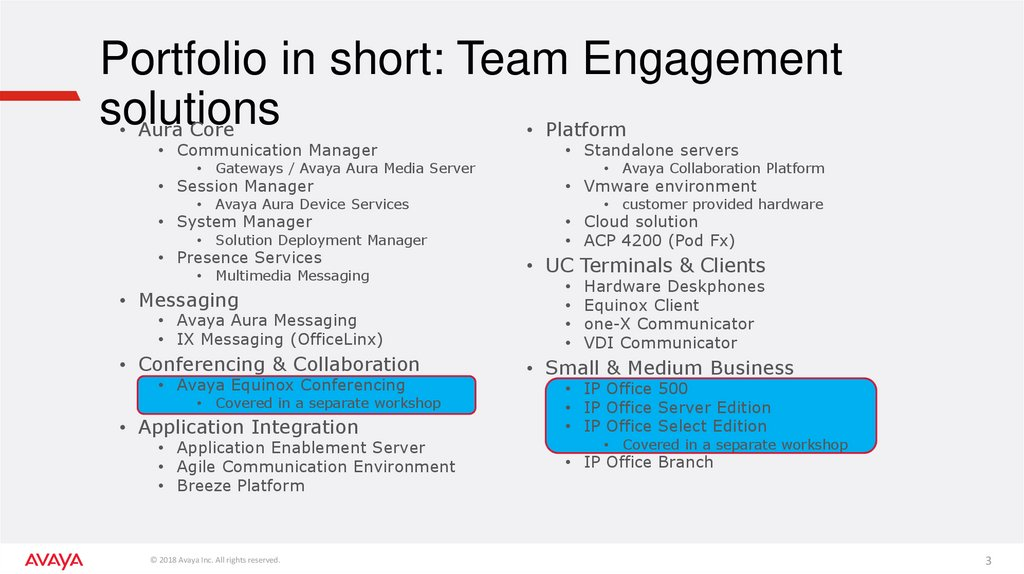 Portfolio in short: Team Engagement solutions
