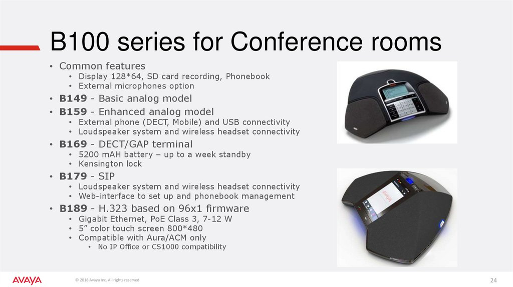 B100 series for Conference rooms