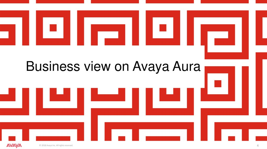 Business view on Avaya Aura