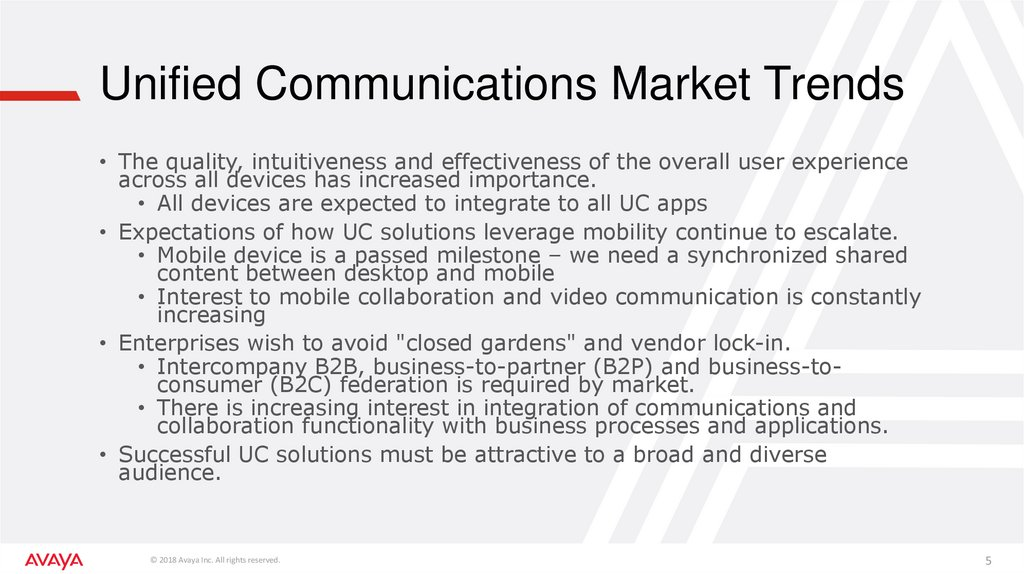 Unified Communications Market Trends