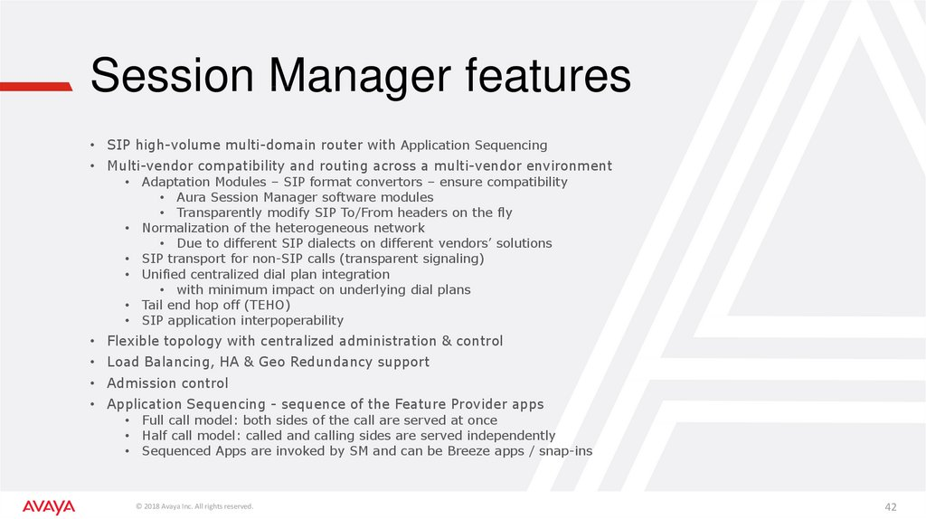 Session Manager features