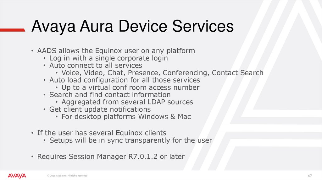Avaya Aura Device Services