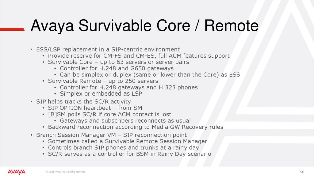 Avaya Survivable Core / Remote