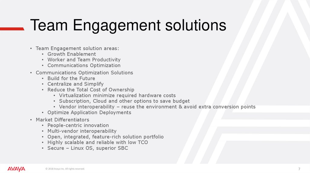 Team Engagement solutions