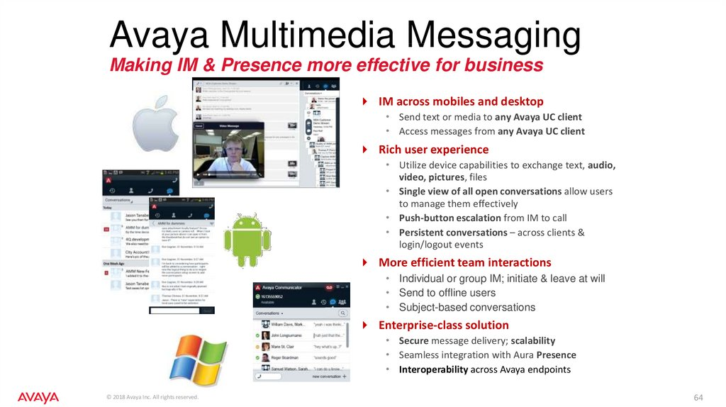 Avaya Multimedia Messaging Making IM & Presence more effective for business