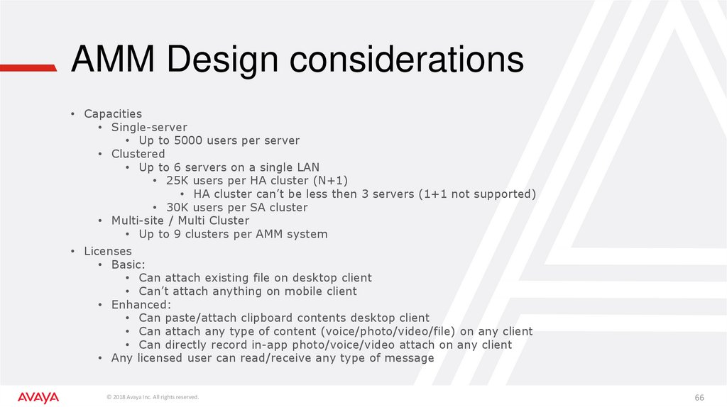 AMM Design considerations