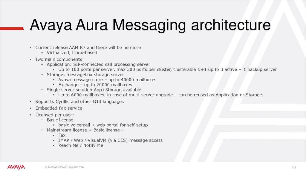 Avaya Aura Messaging architecture