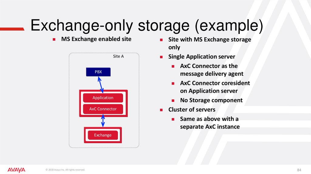 Exchange-only storage (example)