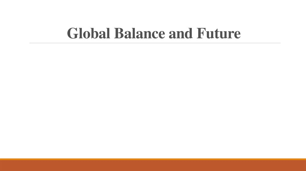 Global Balance and Future