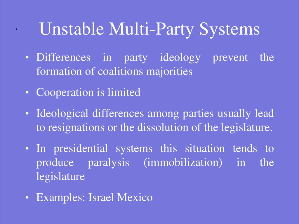 Unstable Multi-Party Systems