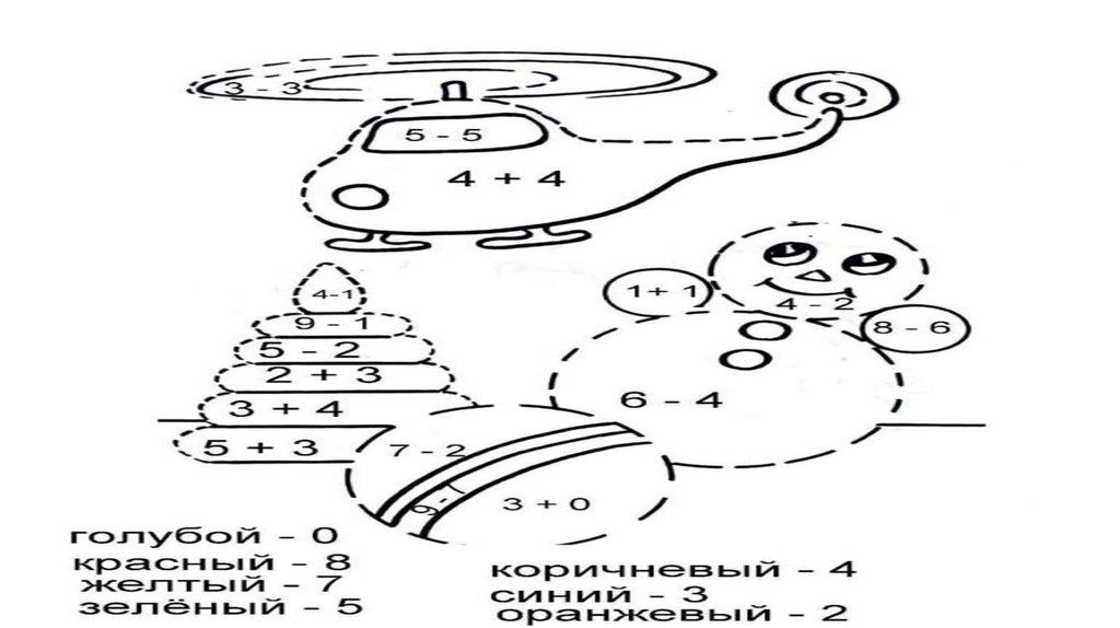 Математические раскраски - online presentation