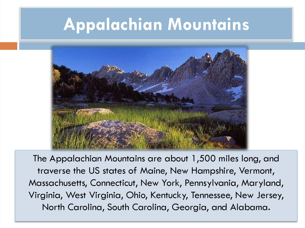 Appalachian Mountains