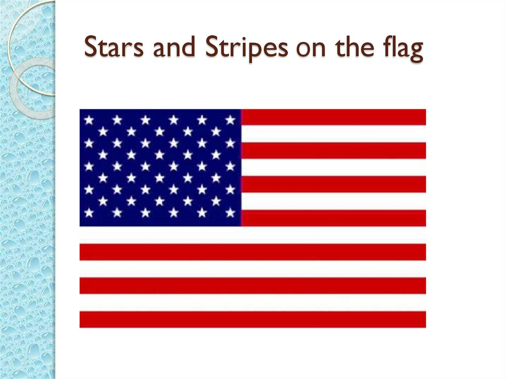 Stars and Stripes оn the flag