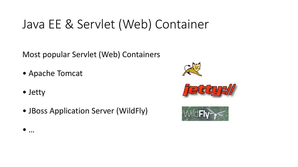 Java EE & Servlet (Web) Container