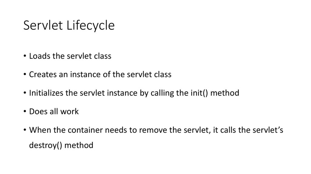 Servlet Lifecycle