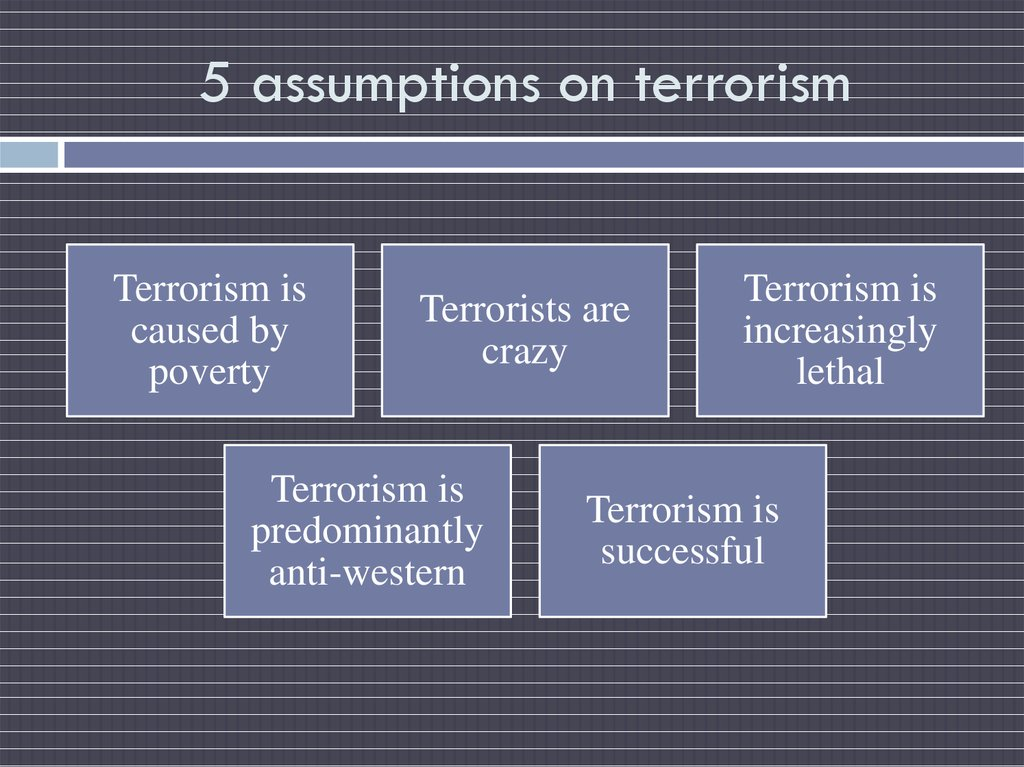 5 assumptions on terrorism