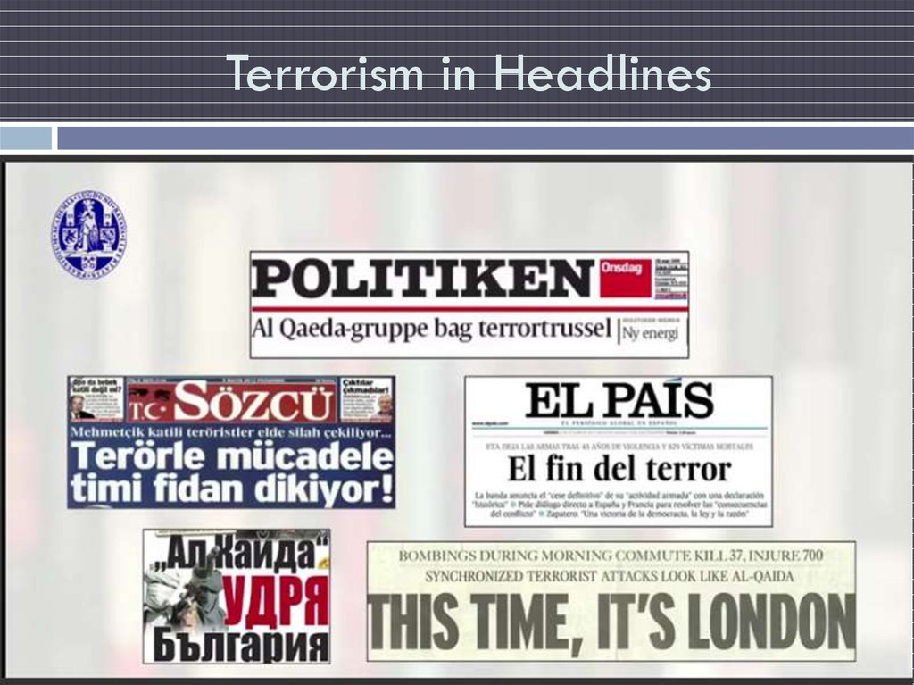 Terrorism in Headlines