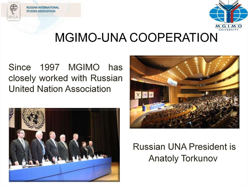 MGIMO-UNA COOPERATION