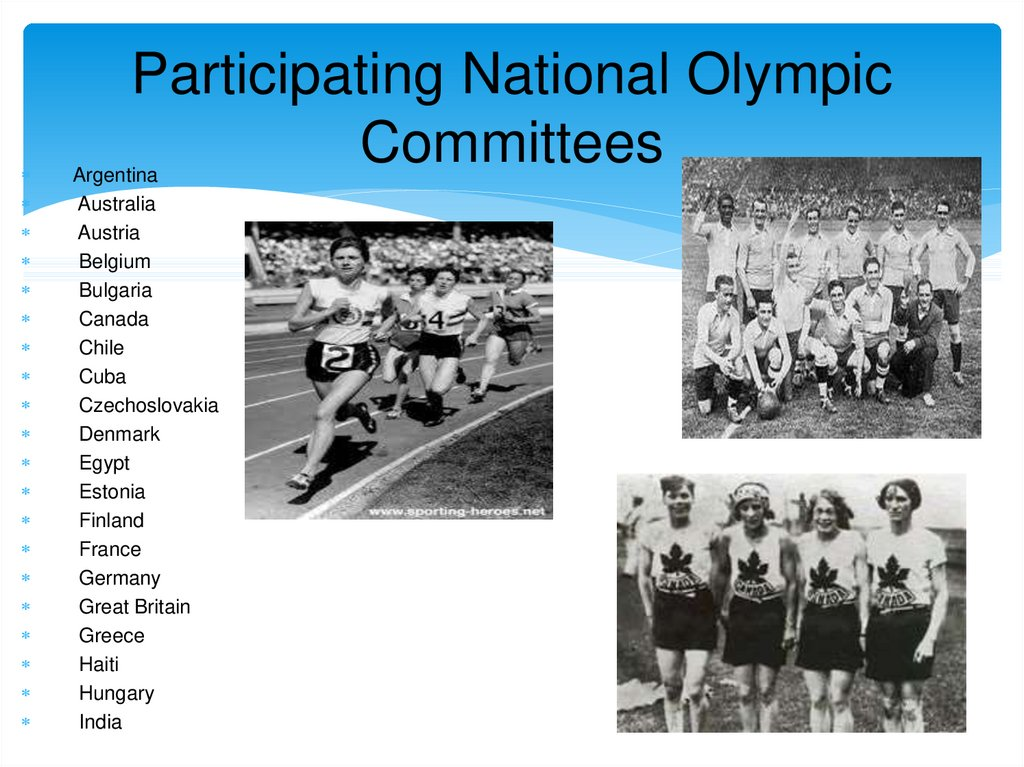 Participating National Olympic Committees