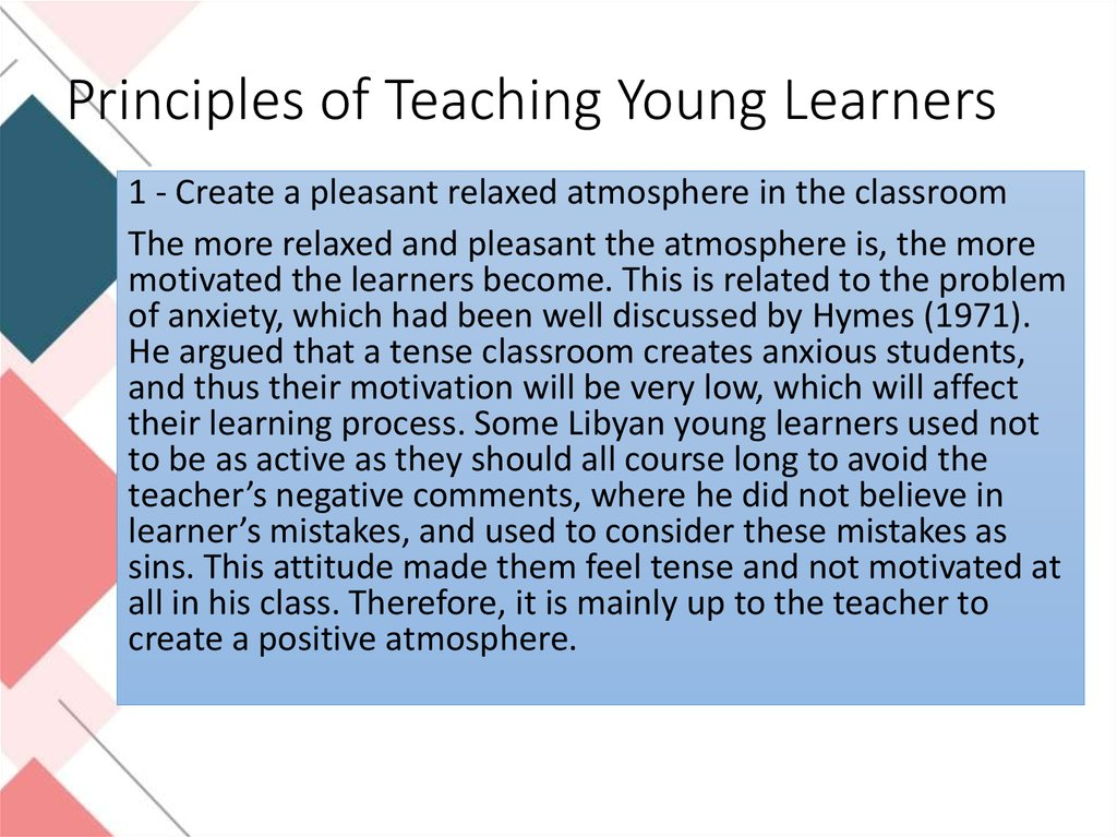 Principles of Teaching Young Learners