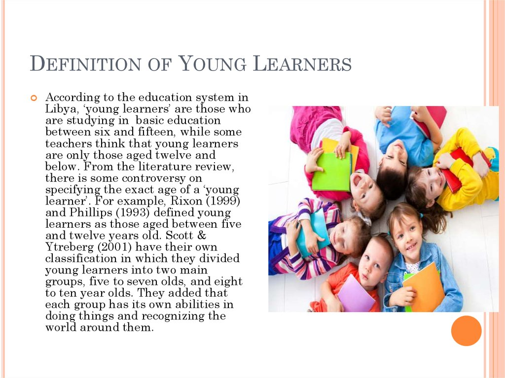 Definition of Young Learners