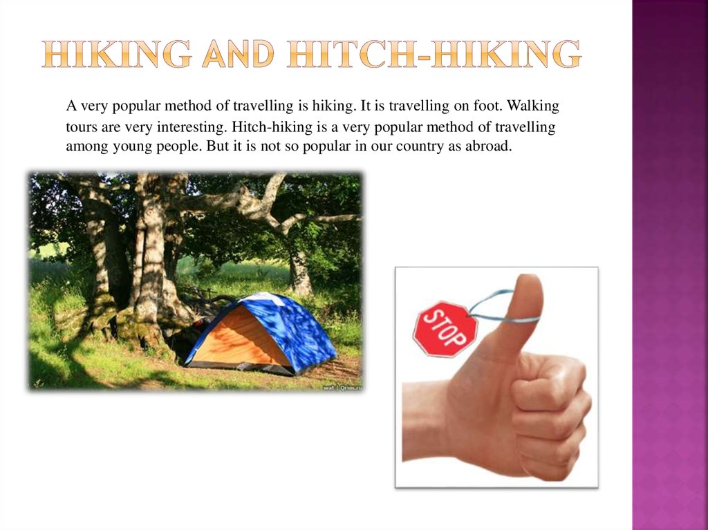 hiking and Hitch-hiking