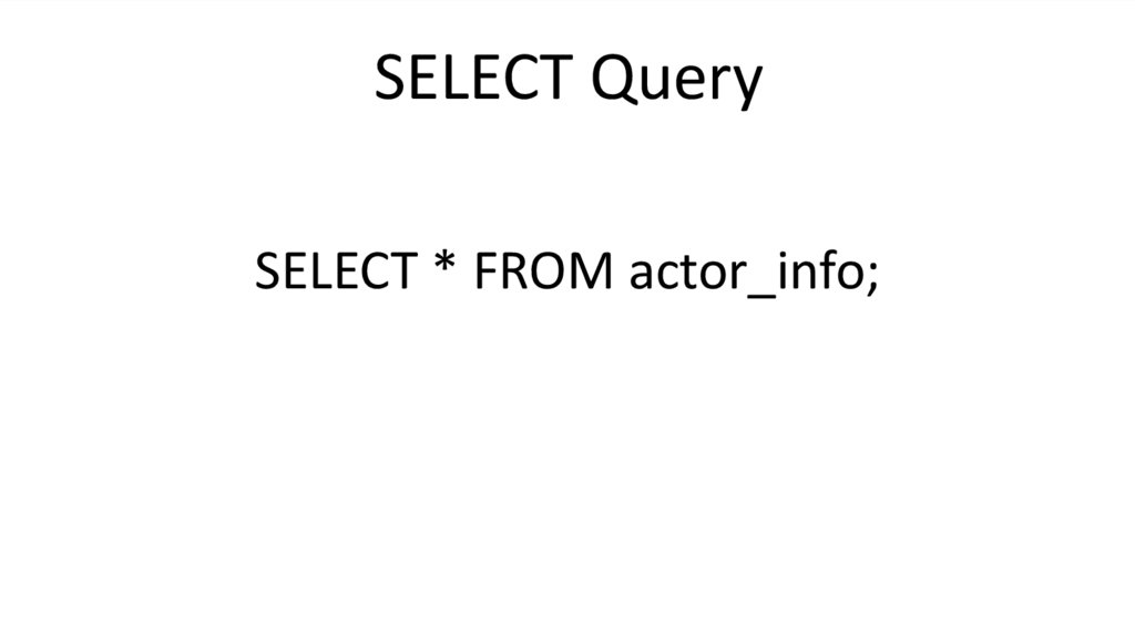 SELECT Query