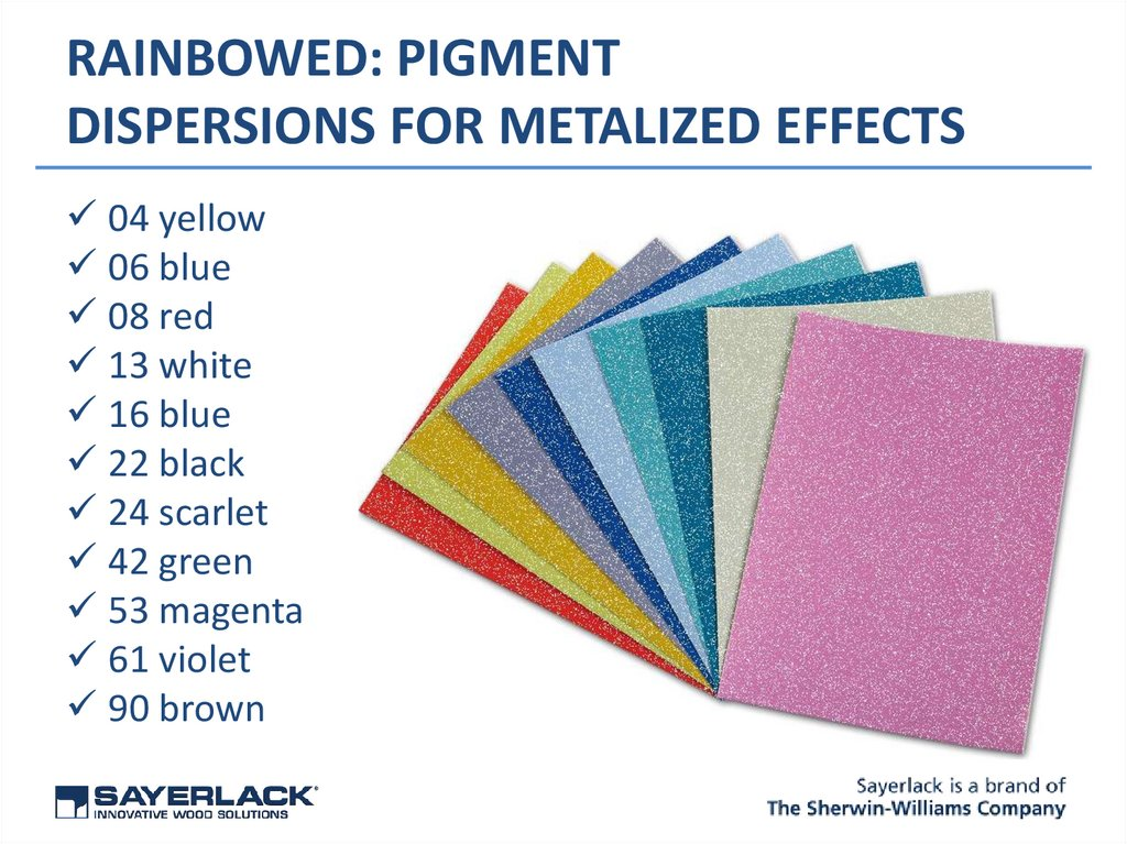 RAINBOWED: PIGMENT DISPERSIONS FOR METALIZED EFFECTS