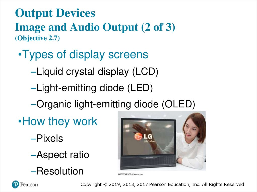 Output Devices Image and Audio Output (2 of 3) (Objective 2.7)