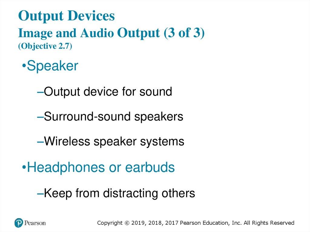 Output Devices Image and Audio Output (3 of 3) (Objective 2.7)