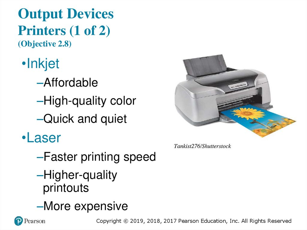 Output Devices Printers (1 of 2) (Objective 2.8)