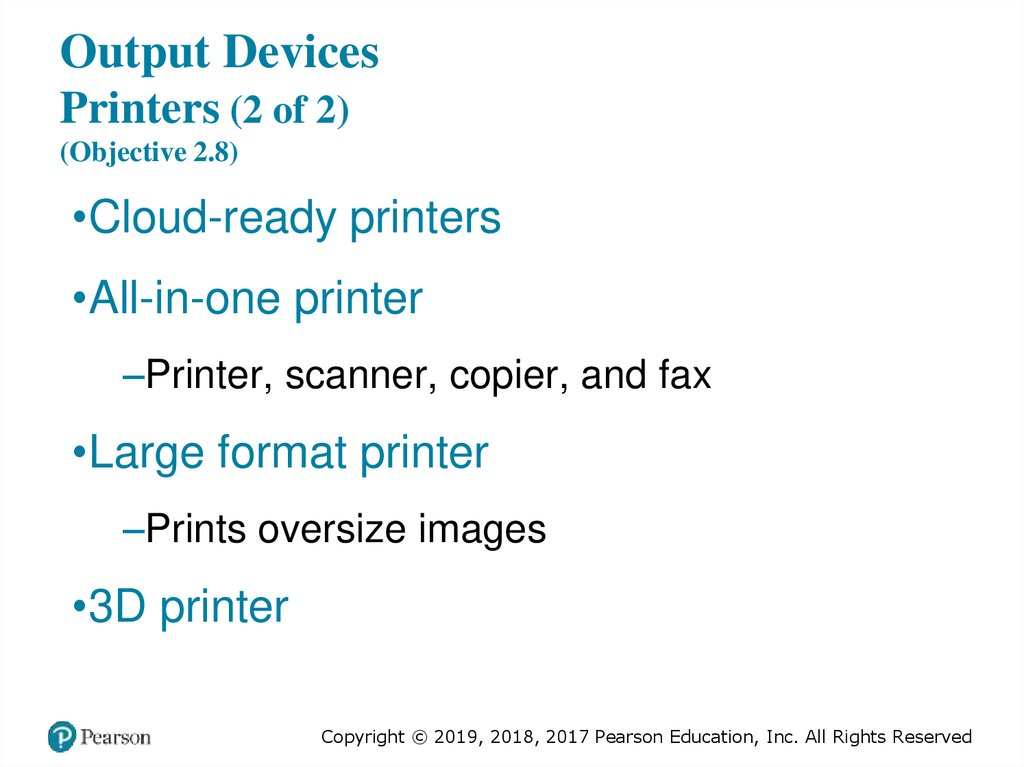 Output Devices Printers (2 of 2) (Objective 2.8)