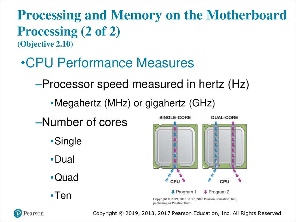 Processing and Memory on the Motherboard Processing (2 of 2) (Objective 2.10)